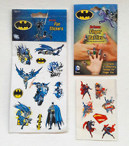 DC LOT of STICKERS TEMPORARY TATTOOS Batman Superman Joker Robin Riddler