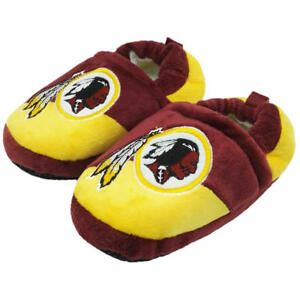 Washington Redskins NFL Boys Colorblock Slippers Size XL (13/1) - NWT