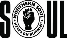 NORTHERN SOUL  CAR SCOOTER STICKER VINYL DECAL LAPTOP MOTOWN