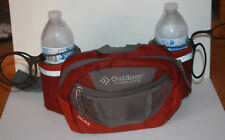 Outdoor Products Mojave Hiking Bag Fanny Hip Waist Maroon Gray Holds 2 Bottles