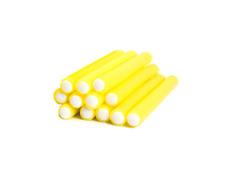 CS Beauty Set of 12 Bendy Hair Rollers 15cm X 1.5cm (yellow) sleep in