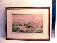 CHAS MASTERS Original & Signed Antique Framed Watercolour Sheep Countryside