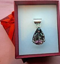 27ct Faceted Amethyst 25mmX16mm Handcrafted  Silver 925 Pendant skaisJAN18