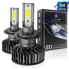 H7 COB LED No Error Headlight High or Low Beam Bulbs 6000K White with driver