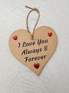 Valentines Day Gift Heart Personalised I Love You Boyfriend Girlfriend Husband