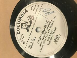 "Frank Sinatra PROMO White Radio Ever Homeward Columbia 10"" Record original Jazz"