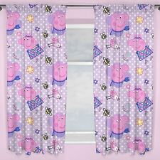 "PEPPA PIG HAPPY 66"" x 72"" CURTAINS NEW BEDROOM"