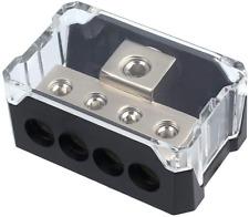 Power Distribution Block, Auto Car Audio Amplifier 1 in 4 Ways 0/2/4 Gauge in 4/