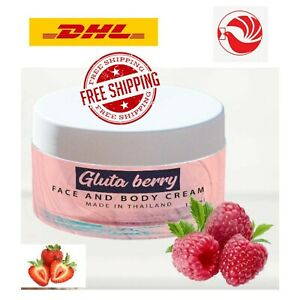 Gluta Berry Face & Body Lotion Anti Aging Whitening Reduce Freckles Fast Cream