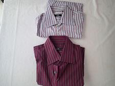 lot 2 pc hugo boss    Shirt ,sz 16/34/35   16.5 ,button down stripes, k1