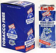 Hemparillo Blueberry Hemp Wraps Rilla Rolling Papers 15 Packs Full Box 60 Wraps
