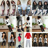 2PCS Toddler Kids Baby Girls Outfits Long Sleeve T-shirt Tops+ Pants Clothes Lot