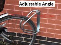 rdk Cycle Bike Storage Stand Bracket Upright Wall Mounted Rack, adjustable angle