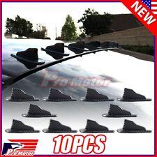 10PCS Universal Carbon Fiber Air Vortex Generator Shark Fin Jet Spoiler Diffuser