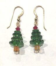 Pendientes de árbol de Navidad hecho con cristales de Swarovski Joyería De Oro Lleno De Vacaciones