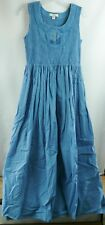 Coldwater Creek Small Size 8 Dress Maxi Long Blue Sundress Built in Slip Boho