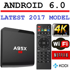 Android 6.0 Smart Tv Box 4K Ultra HD Kodi Media Player Wifi Quad Core A95x MXQ