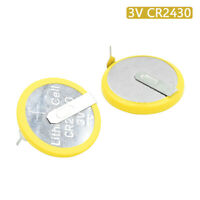 2Pcs 3V Soldered 2 Pins CR2430 Battery For Main Board Remote Control Game Toy C