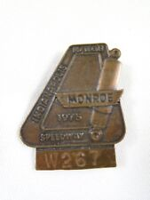1975 Indy 500 Bronze Pit Badge Bobby Unser Dan Gurney's All American Racer Eagle