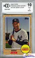 2008 Topps #TCH50 Derek Jeter BECKETT 10 MINT Yankees Future Hall of Famer