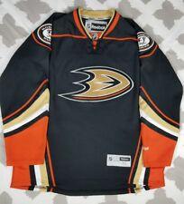 Anaheim Mighty Ducks Reebok Premier 3rd Black Hockey Jersey sz XL Away Alternate