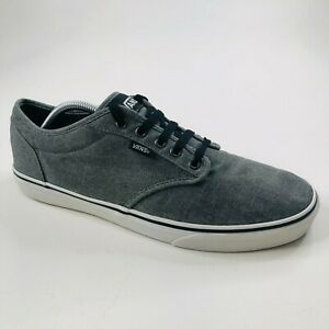 Vans Classic Skate Shoes Gray Men's 12 Lace Up Low Top Sneakers Casual TC9R