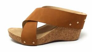 CL By Chinese Laundry Womens ABLOOM Wedge Sandal Tan Brown Size 10 M US