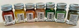 POPULAR CAMOUGLAGE COLORS Testors Enamel Model Paint Set - 7 NEW Bottles