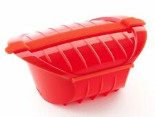 Lékué DEEP STEAM CASE 1-2 Person 650ml VEGETABLE STEAMER Silicone RED Lekue