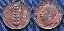 REGNO D'ITALIA RE VITTORIO EMANUELE III° CASA SAVOIA 5 CENTESIMI 1934 - SPIGA