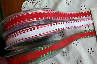 Satin Spot Edge Reversible Ribbon 16mm wide - 3 Metre Length 3 Colour Choice LL3