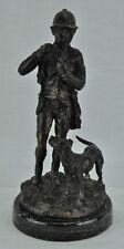 Vintage Sherlock Holmes (or hunter) with Pipe and Dog. (BI#MK/180130)