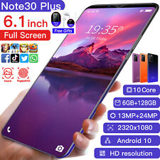 Note 30 Plus Smartphone Android 6.1 Inc Mobile Phone 6+128GB Dual Sim Unlocked