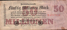 BANCONOTA DA 50 MILLIONEN MARK 1923 FUNFZIG   21-125