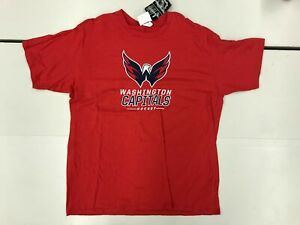 Fanatics Washington Capitols NHL Hockey Caps Mens XL Short Sleeve Shirt Red