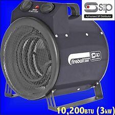 SIP 09160 Fireball Turbofan 3000 Electric Fan Heater office shed garage workshop
