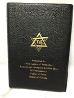 Holy Bible Temple Illustrated Edition French Morocco Leather Black Ocala Lodge