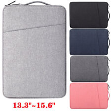 """For 13.3""""-15.6"""" Notebook Laptop Sleeve Pouch Padded Carry On Bag Case w/ Zipper"""