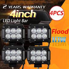 4X 18W FLOOD Led Bar Work Light Boat Car Truck Lamp SUV UTE ATV offroad Jeep DE
