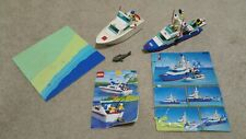 Lego ship lot 4011 cabin cruiser 6353 coastal Guard cutter 99% & beach plate
