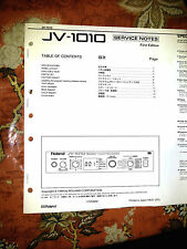 ROLAND JV-1010 JV1010  Repair / Service MANUAL only