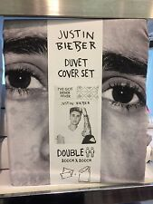 Justin Bieber Double Duvet Cover Set With 2 Pillowcases Official Product