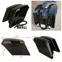 "FOR Harley  Electra Road Touring 1993-2013 5"" Stretched Extended Hard Saddle Bag"