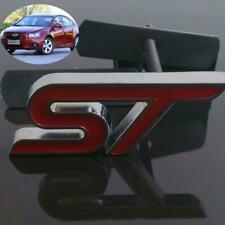 Car Suv Racing 3D Metal Front Grille Grill Badge Emblem Decals Hood Red ST Logo