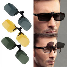 Night Vision Polarized Driving Clip-on Flip-up Lens Sunglasses Glasses Yellow EA