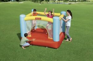 Fisher Price Bouncetacular Inflatable Bounce House, Ages 3-8 Multicolor