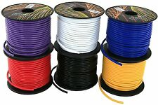 18GA AWG GAUGE 100 FT SPOOLS REMOTE POWER GROUND WIRE CABLE PRIMARY AUTO 6 Pack