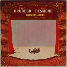DAVE BRUBECK, PAUL DESMOND: At Wilshire-Ebell FANTASY Red Wax Jazz LP Orig