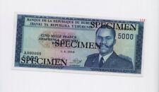 SPECIMEN: Burundi 5000 Francs Banknote ( 1968) Pick 26 UNC Condition