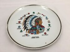 RUNNING WATER COLLECTOR PLATE-NATIVE AMERICAN INDIAN CHIEF-EXPLANATION OF SYMBOL